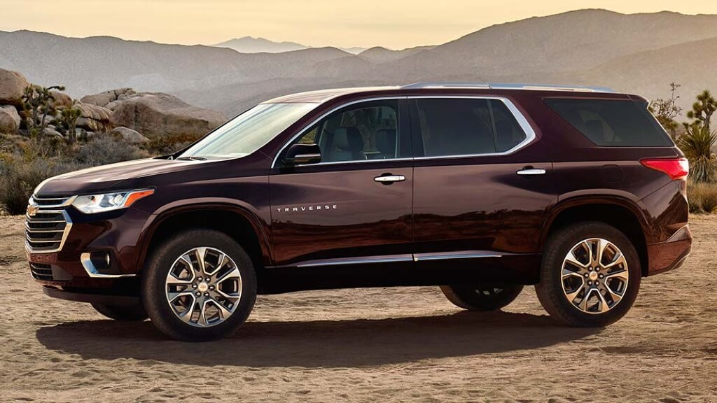 2018 Chevrolet Traverse side view