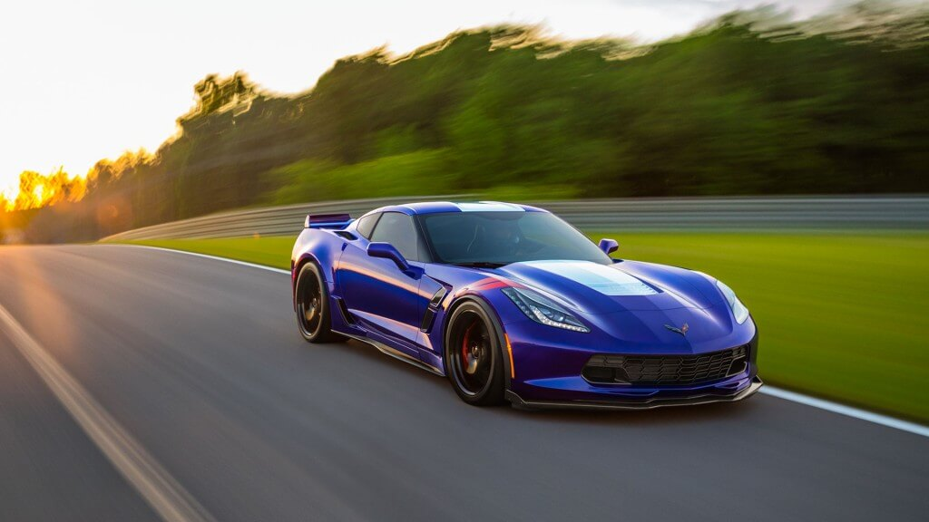 2017 Chevrolet Corvette Grand Sport blue exterior model