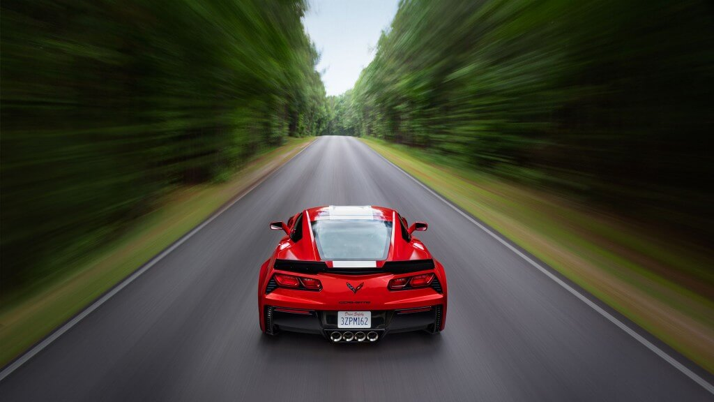 2017 Chevrolet Corvette Grand Sport red exterior model rear view