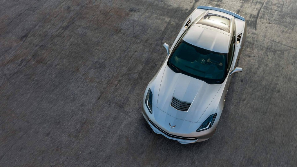 2017 Chevrolet Corvette Stingray top view