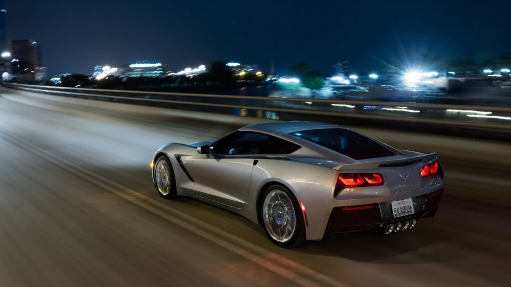 2017 Chevrolet Corvette Stingray on the road