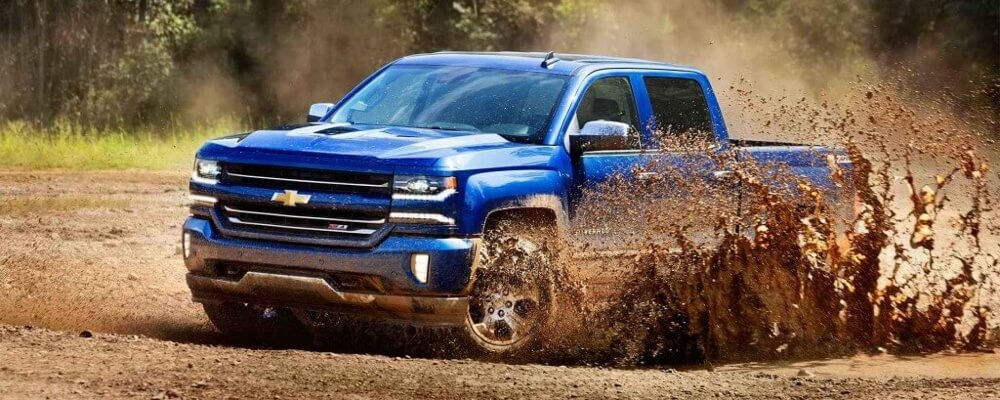 2017 Chevrolet Silverado 1500 Performance blue exterior model