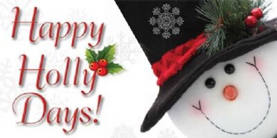 Holly Days Snowman Flyer