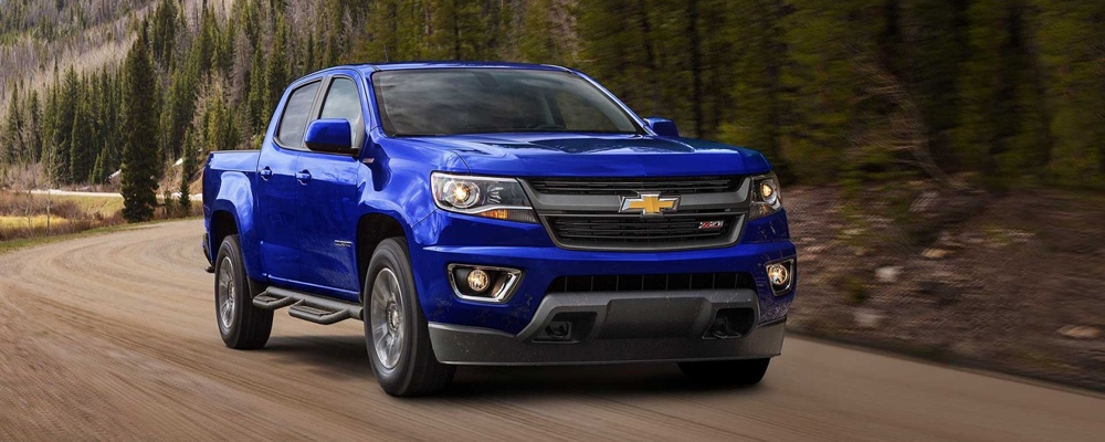 2017 Chevrolet Colorado blue exterior model