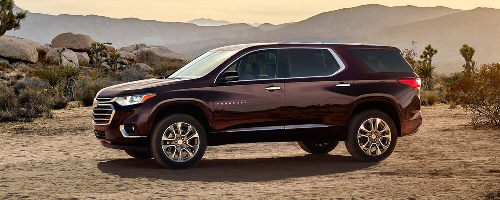 Side view of the 2018 Chevrolet Traverse