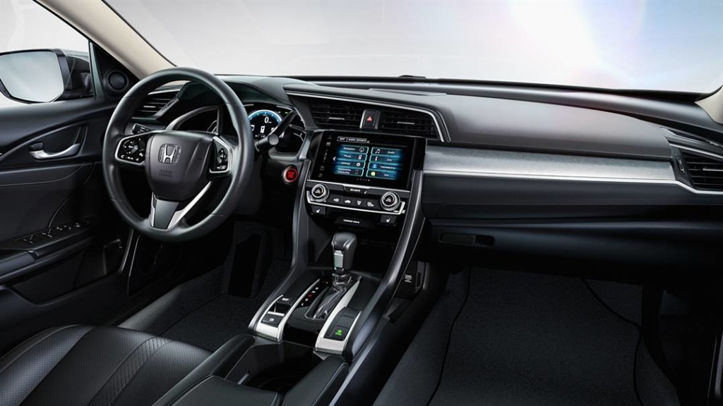Interior of 2016 Civic touring