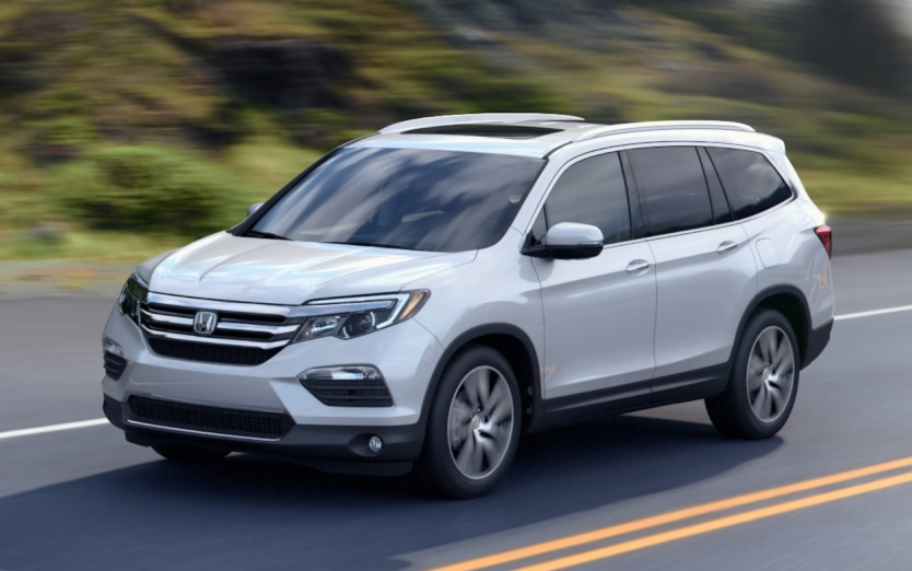 The 2016 Honda Pilot Driving On Open Road