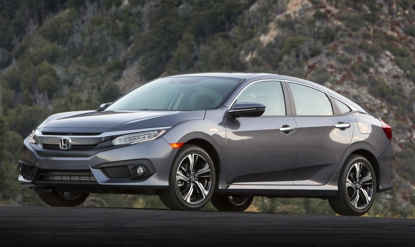 Front Angle Of The 2016 Honda Civic Touring