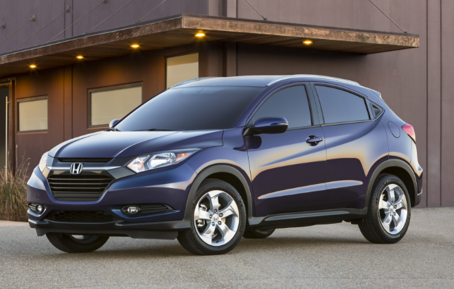 2016 Honda HRV Parked In Driveway