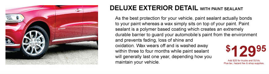 Exterior wash and detail for cars Tacoma Dodge WA