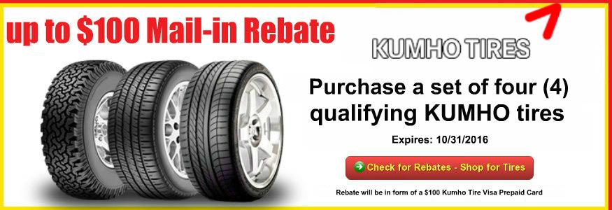 Tacoma Tire Sales Kumho Rebates