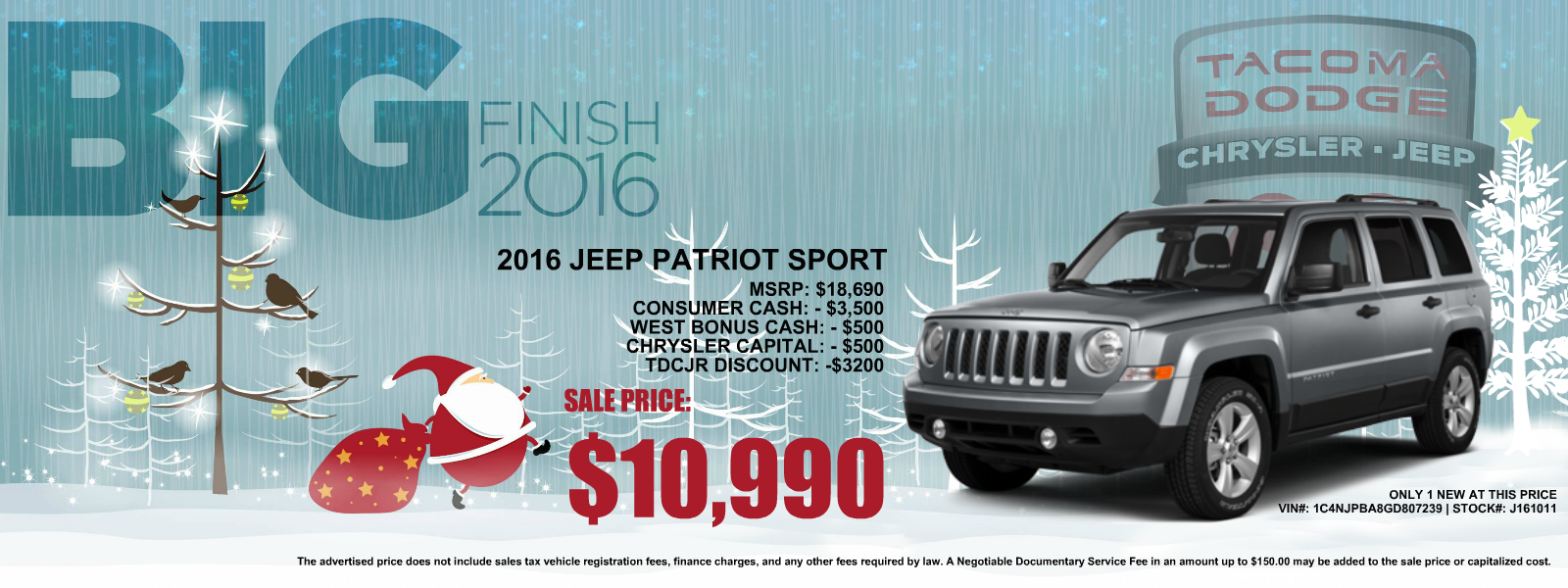Jeep Patriot for Sale in the Puyallup and Seattle area at Tacoma Dodge, WA
