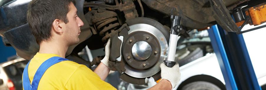 tech performs brake service