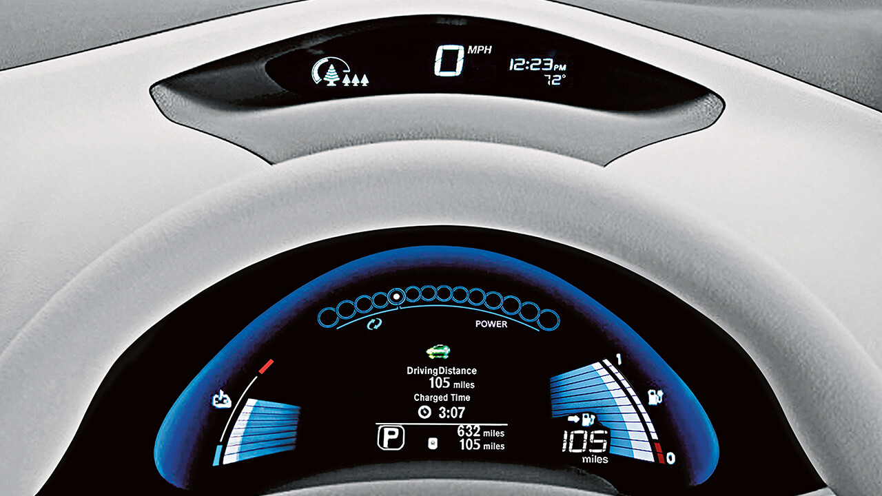 2017 Nissan LEAF display drive computer
