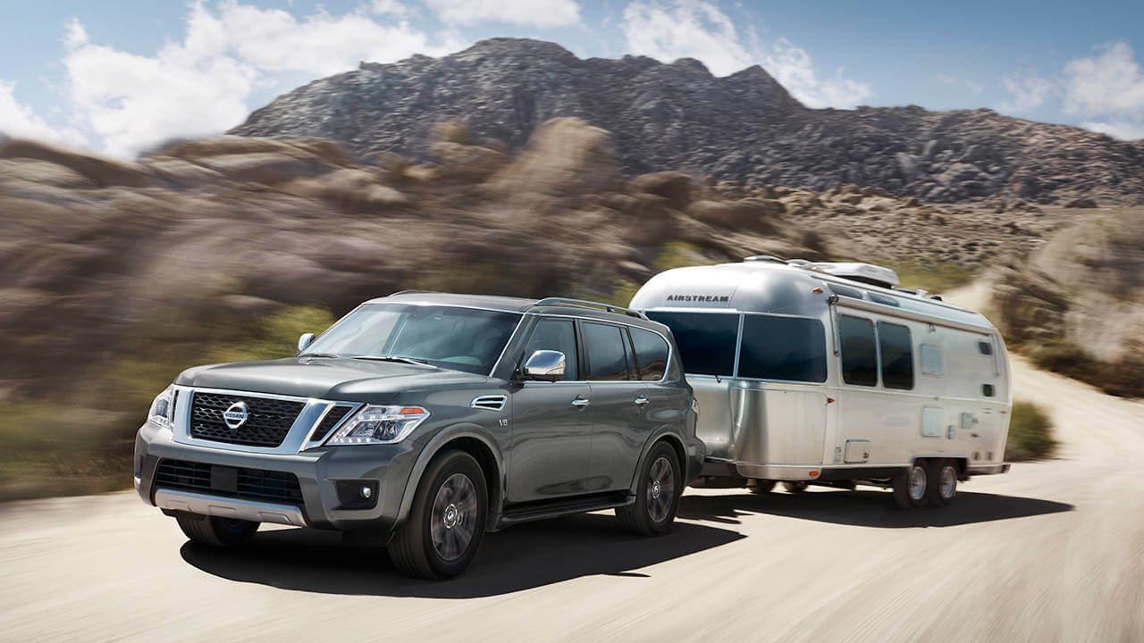2017 Nissan Armada Platinum tow trailer