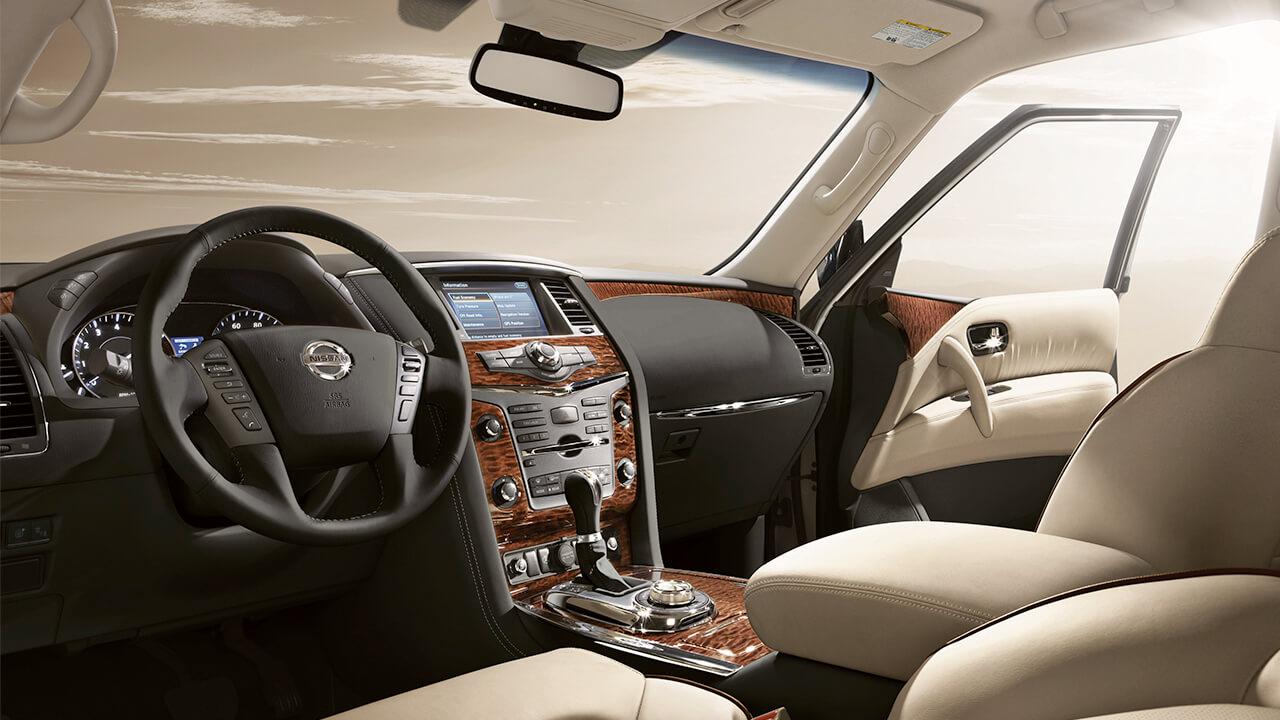 2017 Nissan Armada interior dash