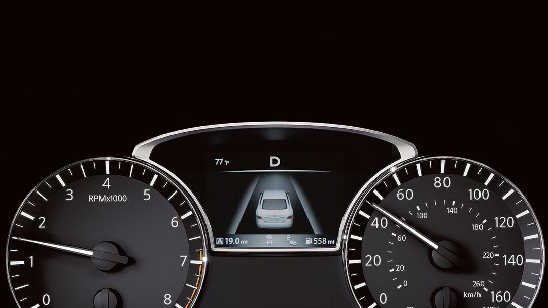 2017 Nissan Altima drive assist display