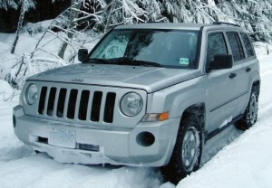 Jeep Patriot in Snow