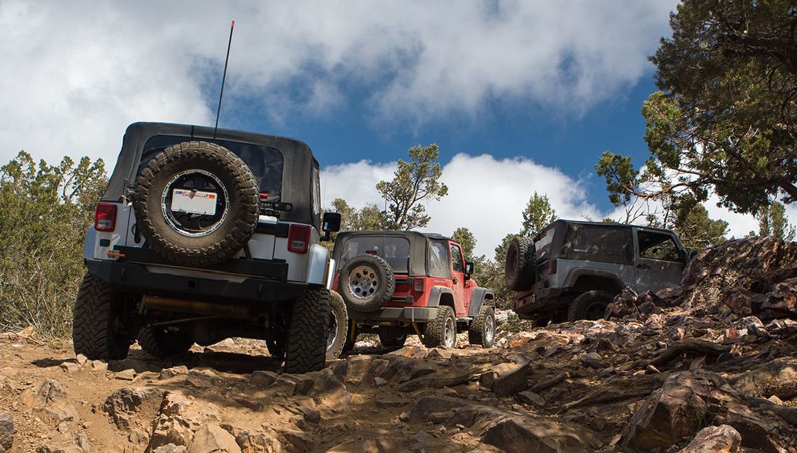 Jeep Wranglers on Gold Mountain Trail, Big Bear, CA