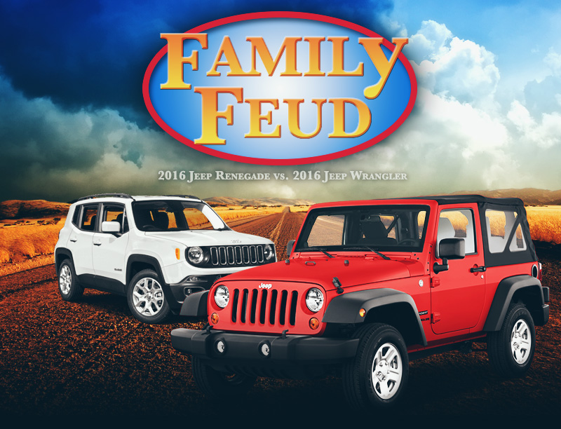 Family Feud 2016 Jeep Renegade Vs 2016 Jeep Wrangler