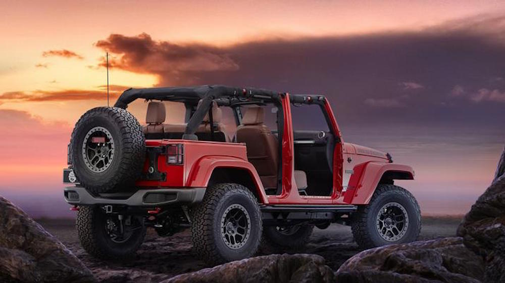 Jeep Wrangler Red Rocks Concept Rear