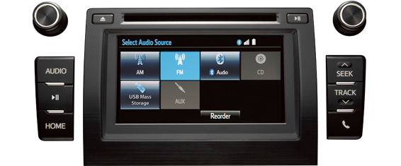 entune ™ premium audio with integrated navigation and app suite