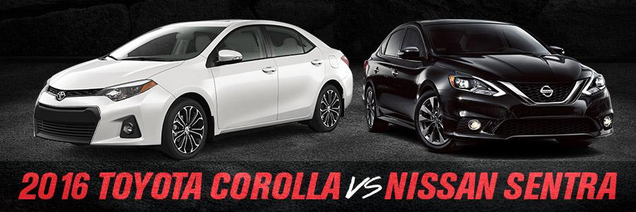 Toyota Corolla Compared to Nissan Sentra - Toyota of Gastonia